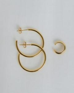 Produktabbildung: Set Simple Hoop und Simple Earcuff Gold